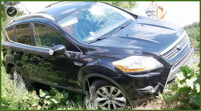 Wypadek samochodowy w drodze do pracy.