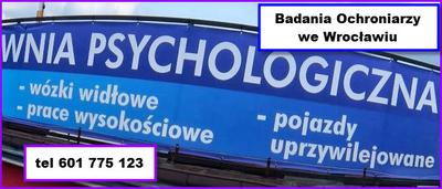 Badania psychologiczne Pracownika Ochrony