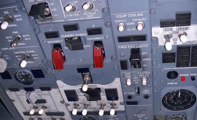 Tablica rozdzielcza samolotu